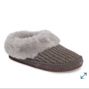 Ugg Wrin Rib Knit & Genuine Shearling Slippers